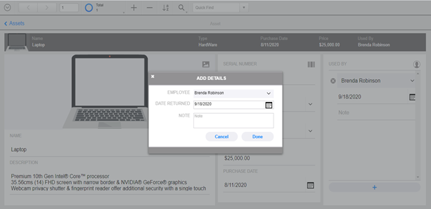 Card Window in FileMaker 19 WebDirect