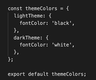 Create Theme Object