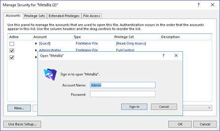 FileMaker OAuth Image