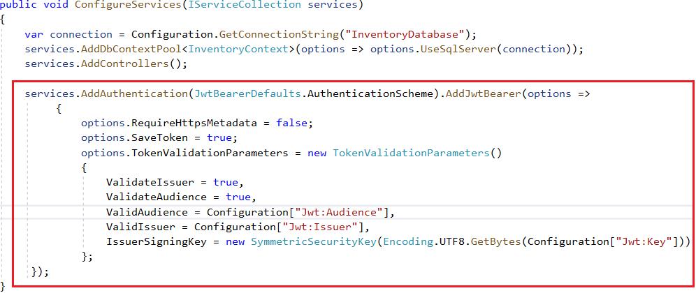 JWT Authentication Schema