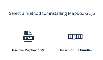 Method selection for installing Mapbox