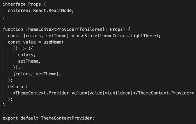 Theme Context Provider